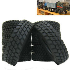 4 Pcs Rubber Tires Tyres for Tamiya 1 14 Tractor Truck Trailer Climbing Car 1/14