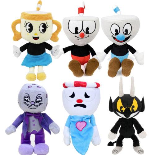 Cuphead /& Mugman Ghost Chalice Devil Boss Demon King Dice Plush Figure Doll Toy