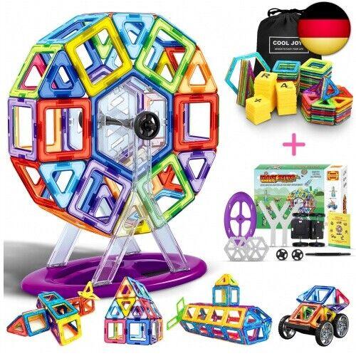 COOLJOY Magnetische Bausteine, 117 Stück Magnet Baustein, Pädagogische B