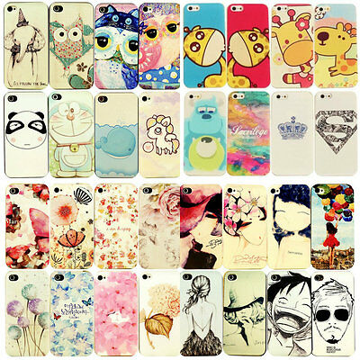 Fashion Cute Design Pattern Hard Back Case Cover Skin For Apple iPhone 4/4S 5/5S