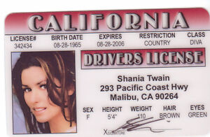 Shania-Twain-Country-Music-Star-ID-card-Drivers-License