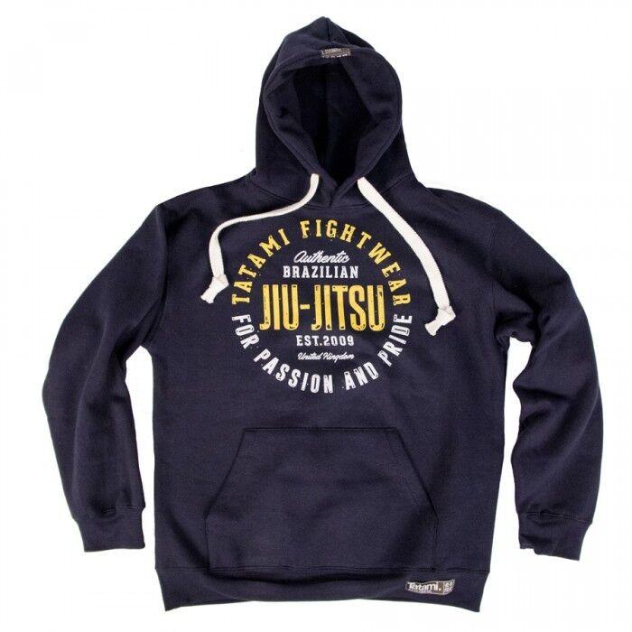 NEW  Tatami Pride and Passion Navy Hoodie Hoody BJJ Brazilian Jiu Jitsu Casual