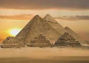 A1-Egyptian-Pyramids-Poster-Art-Print-60-x-90cm-180gsm-Giza-Egypt-Gift-13053