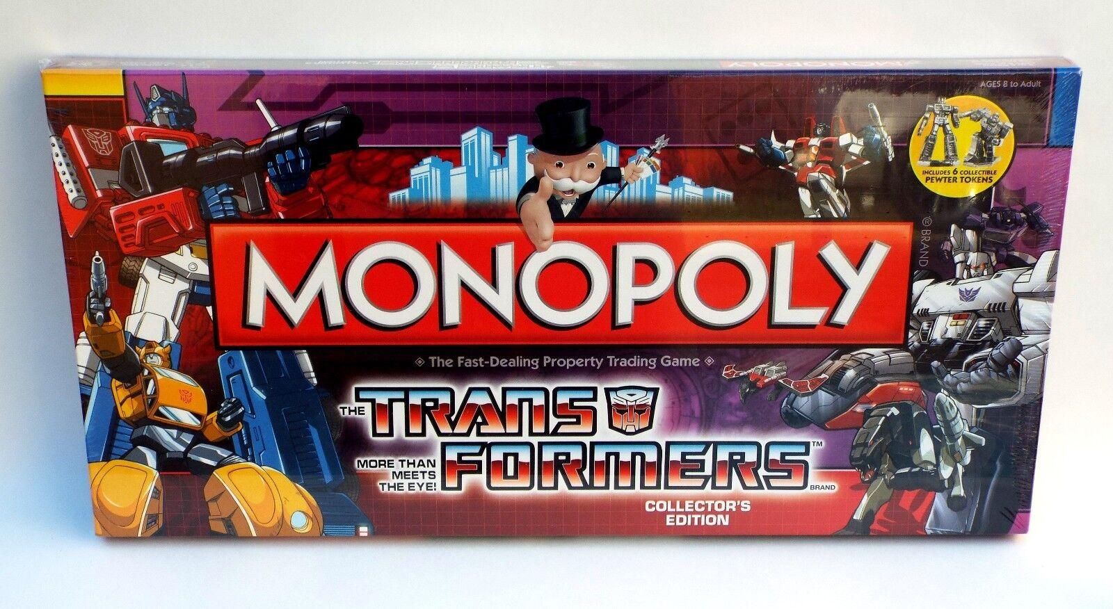 Monopolio los transformadores más que cumple con los Ojos juego de Mesa Nuevo En Caja Sellada 2009
