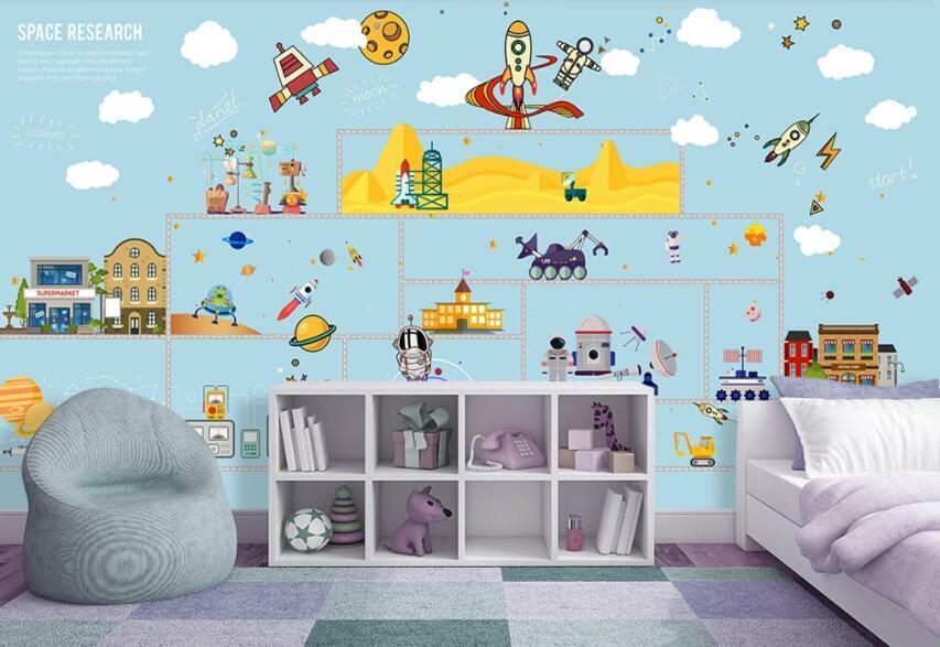 3D Süß Kinderzimmer M987 Tapete Wandbild Selbstklebend Abnehmbare Aufkleber Amy