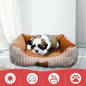 Pet-Dog-Cat-Calming-Bed-Comfy-Shag-Warm-Bed-Nest-Mattress-Washable-Square-Pad