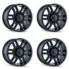 Set 4 17 Ion 179 Black Wheels 17x8 6x55 10mm Chevy Tahoe Gmc Cadillac 6 Lug