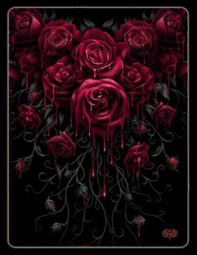 Plaid polaire gothique-Blood Rose-Spiral Couverture Couverture Plaid Couverture pour canapé