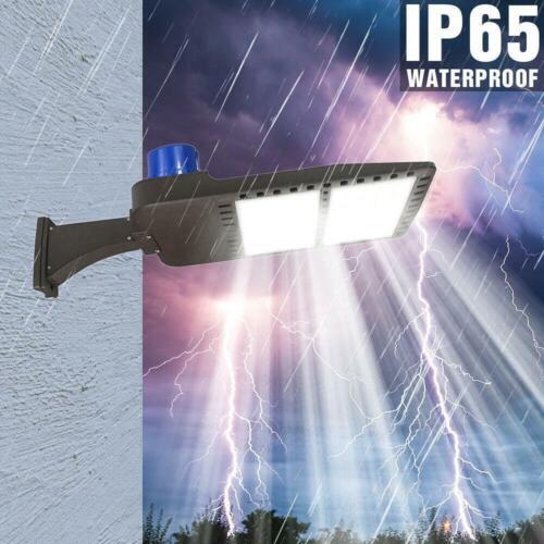 150W LED Parking Lot Light with Photocell Shoebox Street Area Flood Light