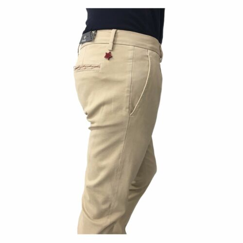 Beige Pour Coton In Hommes Mod Pantalons Italy Hivernal Zanella Medway m Made 7XpaqxW