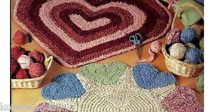 Crochet-rag-rug-patterns-Rags-to-Rugs-book-2-LA2820-heart-sunflower-tulips