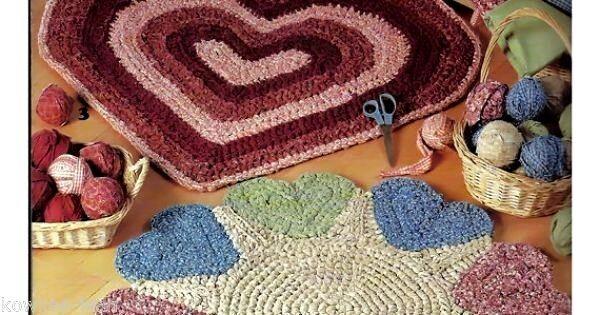 Crochet Rag Rug Patterns Rags To Rugs Book 2 La2820 Heart Sunflower