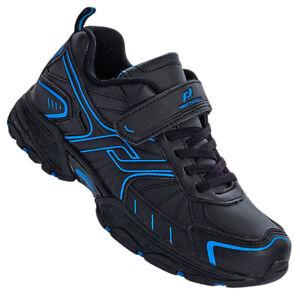 quality design f761b 83e15 Details about Pro TOUCH Children Sport Shoes Outdoor Shoes Trainers Velcro  Black/Blue- show original title