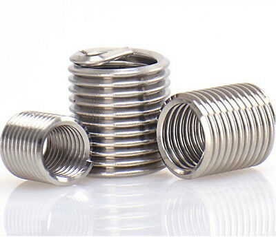 100pcs M5x0.8x1D Metric Helicoil Screw Thread Wire Inserts 304 Stainless Steel