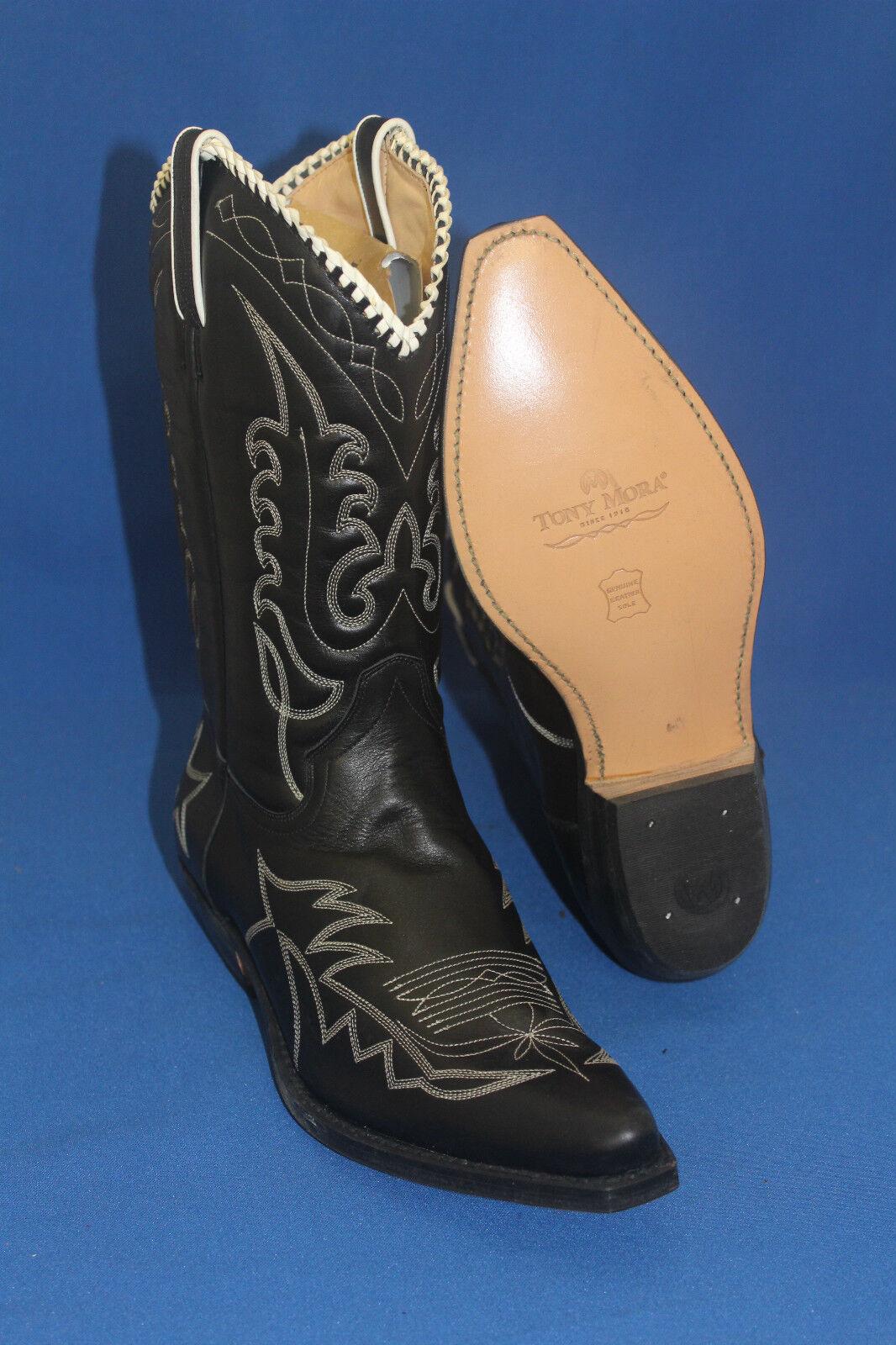 Tony Tony Tony mora Stivali Stivali Odeon Stivali Western Cowboy Stivali Taglia. 40 Pelle Nuovo a5326f