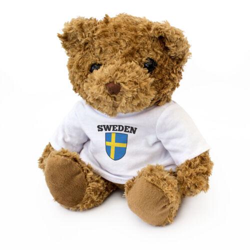 Gift Present Birthday Xmas Teddy Bear NEW Cute And Cuddly SWEDEN FLAG