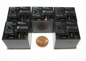 5-Pcs-OMRON-G7G-Relay-12V-DC-Coil-SPST-NO-Contacts-30A-240VAC-G7G-1A2-CB-DC12