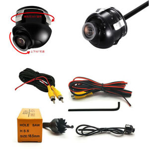 360-Rotatable-Car-DVR-Front-Side-View-Blind-Area-Back-up-Camera-Monitor-System