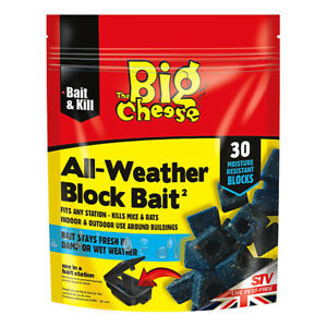 STV-Big-Cheese-All-Weather-Rat-amp-Mouse-Rodent-Killer-Poison-15-or-30-Block-Bait