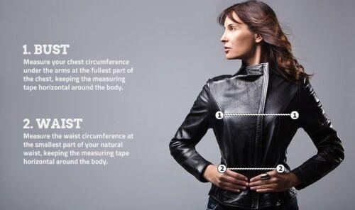 zwarte bikerstijl lederen echt slim Nieuwe motorjas fit dames echt Aaxwzzq6