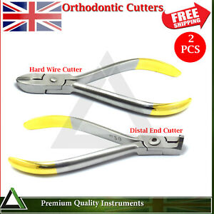 Dental Orthodontic Ligature Bracket Hard Wire Distal End Cutters TC