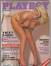 Playboy ABO Frankreich Juillet/Aout 93 Nr. 16  Vicky Smith, Betty Page, Freytag