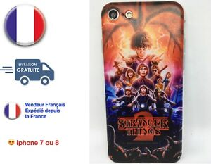 Coque Iphone 7 ou Iphone 8 Silicone Souple  Série TV Stranger Things