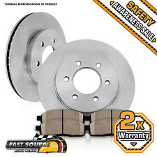 2 Front 283 mm Brake Rotors and Ceramic Pads FITS INFINITI QX4 NISSAN PATHFINDER