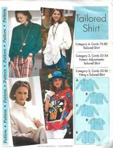 Sewing-Step-by-Step-TAILORED-SHIRT-1993-Misses-Sizes-4-22-Uncut