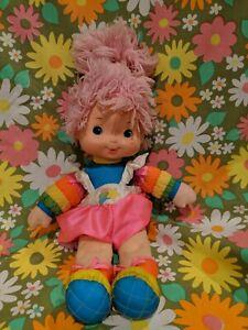 Vtg-Rainbow-Brite-Baby-Brite-Tickled-Pink-16-034-Doll-Plush-Hallmark-Mattel-1983