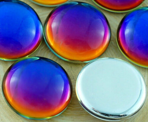 2pcs Round Domed Czech Glass Cabochon 18mm