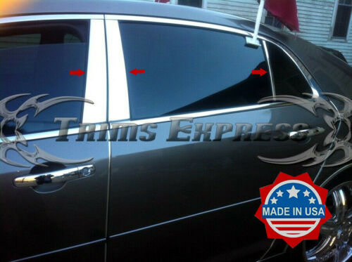 2008-2012 Chevy Malibu 6Pc Chrome Pillar Post Trim Stainless Steel Door Cover