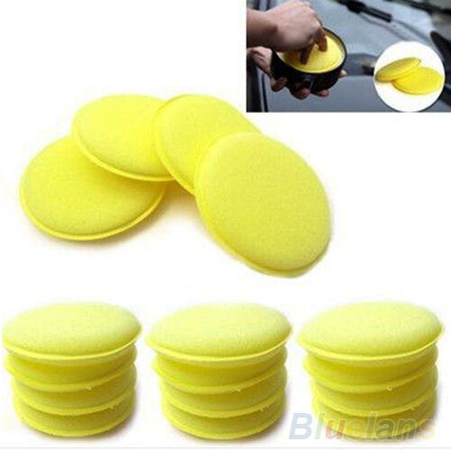 12X NICE WAXING POLISH WAX FOAM SPONGE APPLICATOR PADS CARS VEHICLE GLASS CLEAN