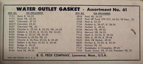 NOS 7154 Water Outlet Gasket Hudson 6 36-54 36-47; 8