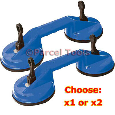 1 Or 2 X New Heavy Duty Double Suction Cup Glass Lifter Window Mirror Puller Uk