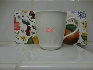 Details about X 6 Villeroy & Boch Farmhouse Touch RELIEF MUGS NEW