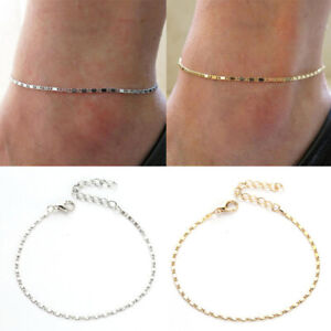 Women-Girls-Gold-Silver-Plated-Ankle-Chain-Bracelet-Chic-Beach-Foot-Jewelry-Gift