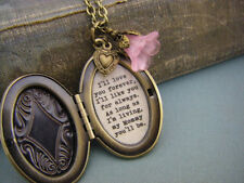 I'll love you forever Mommy Quote Locket Necklace Handmade Mother's Day Gift