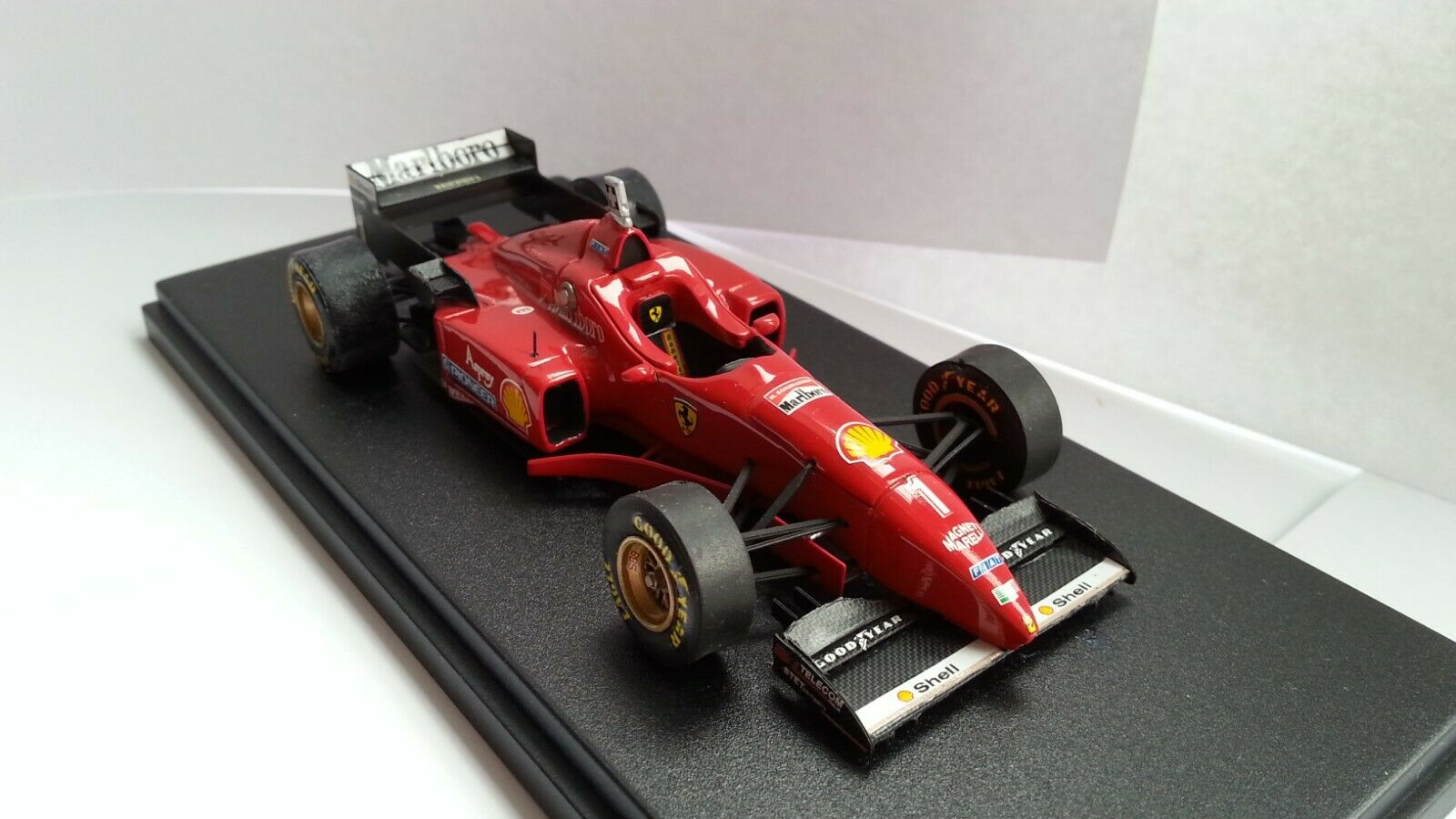 Ferrari F310 nariz baja Schumacher GP Australia 1996 BBR Models fábrica construido