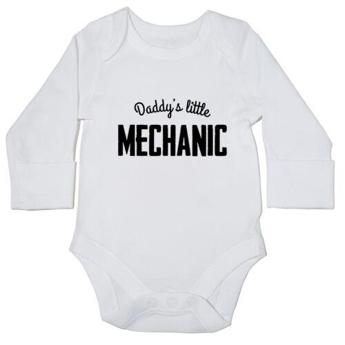 Daddy/'s Little Mechanic baby bodysuit LONG SLEEVE cute new gift car motor 15300