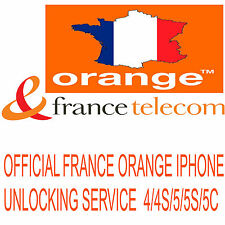 ORANGE FRANCE FAST TRACK UNLOCKING SERVICE IPHONE 4 4S 5 5C 5S 6 6+ (CLEAN IMEI)