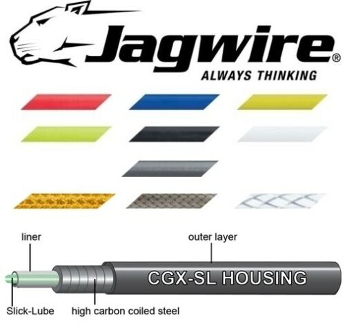 bike brake cable 5mm 1 Metre Quality lined Jagwire outer cycle 2 end caps