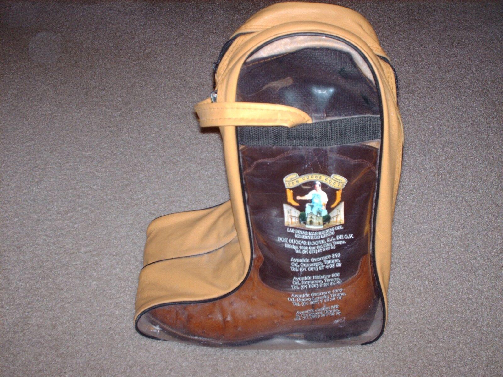 botas para hombre Roper de avestruz y funda de transporte hecho a medida Completa Pluma