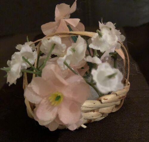 rosa-bianco Più raramente Sauternes CESTO FIORI 6x6 cm per decorazione bambole