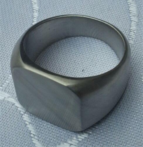 Anillo de acero inoxidable sello anillo cuadrado 17mm x 17mm pulido unisex punk Biker rocker
