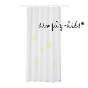 Image Is Loading IKEA Children Shower Curtain SPRUTT White Yellow Perfect