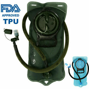 FDA-Hydration-Bladder-2L-Water-Bag-Pack-Outdoor-Camping-Hiking-Airsoft-BPA-FREE