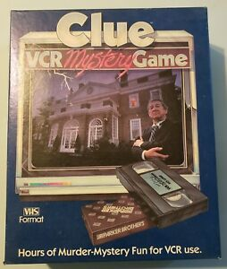 Clue-VCR-Mystery-Game-VHS-Format-Parker-Brothers-Vintage-Game-1985