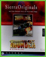 SILENT THUNDER a10 tank killer  pc cd rom giochi sierra big box CARTONATO