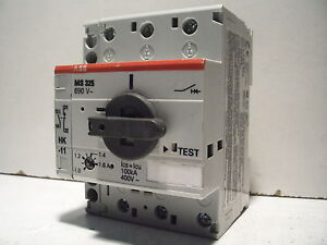 abb ms325 1 6 ms 325 ms325 690v 1 1 6a manual motor starter ebay rh ebay com ABB Manual Motor Starter with Enclosure Electrical Contactors and Relays